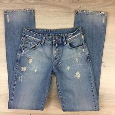 Ksubi The Mac Soul Discharge Distressed Straight Women's Jeans NWOT Size 26 AF15