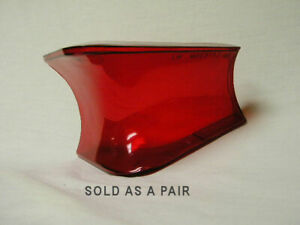 1957 Mercury Tail Lamp Lenses Left & Right Side Pair FEK 13451-B FEK 13450-B