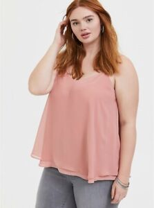 NWT TORRID Sophie Dusty Pink Double Layer Swing Cami 5X (28) Retails $39.50