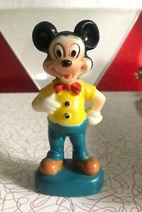 """VTG Walt Disney Productions Mickey Mouse Toy Figurine Hong Kong Celluloid 5.5"""""""