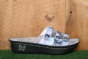 ALEGRIA 'Fiona' FIO-243 Blue & Purple Floral Slide Sandals EUR 35 | US 5-5.5