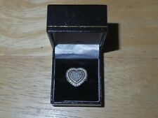 Heart Shaped Diamond Dinner Ring - Copper Band (5% Copper - Cu) - Size 7 - New