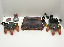Nintendo 64 Custom Black Orange Console System REFURBISHED, Fast Shipping!