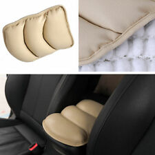 Car Center Console Box Armrest Soft Pad Cover Beige Pu Leather AUTO ACCESSORY