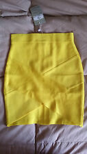 MEILUN Bright Yellow Rayon Bandage Skirt