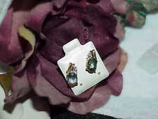 Mystic Topaz Earrings Diamond Studs 10k Yellow Gold Stud Oval 2.00ct New Tg $380