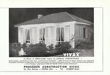 Publicité ancienne maison Vivax la maison de Marie-Claire issue de magazine