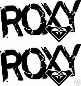 3 X ROXY LOGOS GRAPHICS STICKERS DECALS SKATE SURF