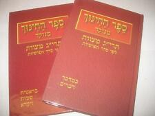 2 Vol set SEFER HACHINNUCH Menukad Ha-Hinnuch ספר החנוך on 613 Mitzvot MENUKAD