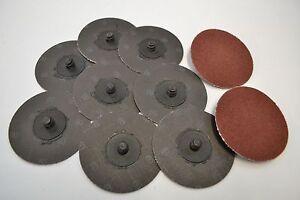 Roloc Type Discs 75mm 10 off Brown Aluminium Oxide