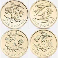 Rare £1 One Pound Coin Floral Emblems full set 2013 - 2014 or individual