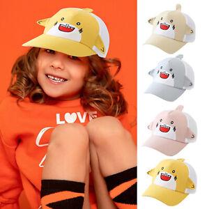 Kids Boy Girl Bucket Hat Adjustable Sun Cap Unisex beach Cartoon Fun Ear Gift