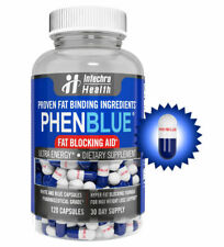 PHENBLUE Extreme Fat Blocker With Peak Energy Boost - 120 Blue White Capsules