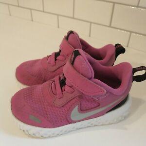 Nike Revolution Toddler infant Shoes athletic pink BQ5673-610 size 7C
