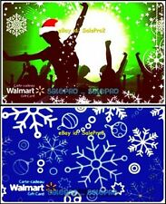 2x WALMART CHRISTMAS SNOWFLAKES EVE PARTY DANCING COLLECTIBLE GIFT CARD LOT