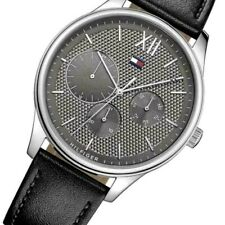 Tommy Hilfiger Men's Watch Black leather Columbus 1791417 $135