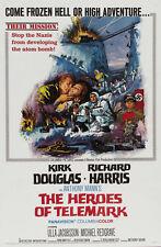 THE HEROES OF TELEMARK Movie POSTER 27x40 C Richard Harris Kirk Douglas Michael