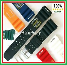 18mm 20mm 22mm 24mm ND LIMITS TIME DIVERS SCUBA WATCH STRAP PU RUBBER 6 COLOURS