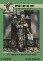 Warriors 1:35 WWII German Waffen SS Tanker with Map Resin Figure Kit #35038