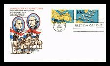 DR JIM STAMPS US SURRENDER AT YORKTOWN COMBO UNSEALED FDC COVER FARNUM