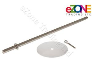 ARCHWAY Doner Kebab Shawarma Grill Spare Skewer Rod 80cm with Disk & Holding Pin