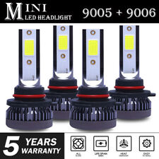 9005+9006 3200W 520000LM Combo LED Headlight High/Low Beam 6000K White 4 Bulbs