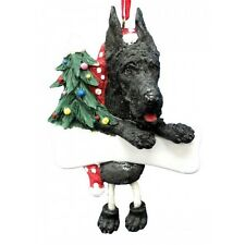 Great Dane Black Dangling Wobbly Leg Dog Bone Christmas Ornament
