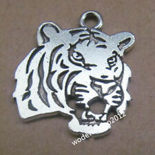 10pc Retro Tibetan Silver Tiger Head Animal Pendant Charms Beads Wholesale PL109