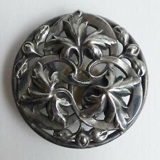 Bouton ancien - Métal argenté - 50mm - Art Nouveau - XIXe/XXe - Openwork Button