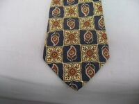 Men's Neck Tie: Lands' End GREAT & CLASSY FLOWER DESIGN ~ 100% Silk ~