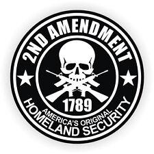 2nd Amendment Hard Hat Sticker / Helmet Label Motorcycle Gun Rights Decal