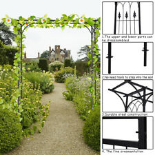 Garden Wedding Rose Arch Pergola Archway Flowers Climbing Plants Trellis Metal