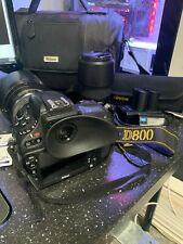 Nikon D800 36.3MP Digital SLR Camera with Nikkor af-s 17-55 + zoom lens +bag KIT