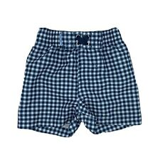 RUGGEDBUTTS 6-12M Swim Shorts Boys Swimsuit Trunks Navy White Gingham ADORABLE!