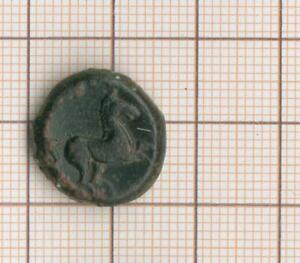 Coinage Sicilo-Punique T Of Tanit To G R / Horse Galloping