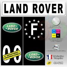 4X Stickers Plaques Land Rover Auto Fond Noir