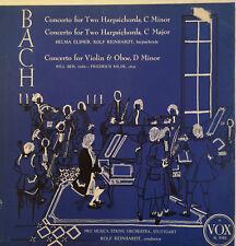 "Bach, Reinhardt, Concertos, 2 Harpsichords, Violin & Oboe (PL 9580) 12"" LP 1955"