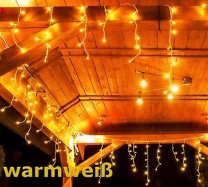 500 LEDs ca.17m Lichterkette Weihnachtsbeleuchtung Eisregen Deko WARMWEIß