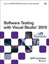 Software Testing with Visual Studio 2010 (Microsoft .NET Development S-ExLibrary