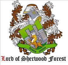 LORD of SHERWOOD Neu ADELSTITEL Wappen Diplom Urkunde Schlossanteil Lordtitel
