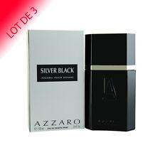 Silver Black Azzaro pour homme Eau de Toilette 100ml LOT DE 3  +1 Échantillon