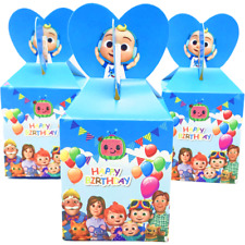 12Pcs Cocomelon Family Candy Box Girls Birthday Party Favor Kids Filler Supplies