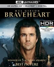 Braveheart New Sealed 4K Ultra Hd Uhd + Blu-ray