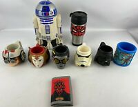 Star Wars Lot Plastic Cups Travel Mug Wallet Darth Maul R2D2 Vader C3PO Amidala