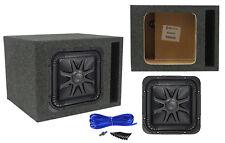 "Kicker L7S102 L7 10"" Solo Baric Square Car Subwoofer + Vented Sub Box Enclosure"