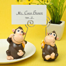 12 Ceramic Monkey Place Card Photo Holders Baby Shower Birthday Favors