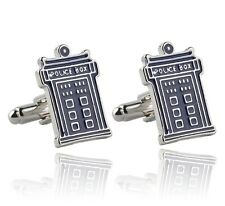 Doctor Who Police Box Blue Silver GEMELLI