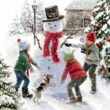 The Snowman Christmas Greeting Sound Card Plays ' Sussex Carol.'