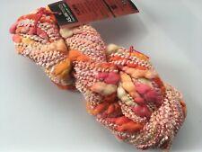 Aslan Trends Plumon Yarn #1444 Pink Orange Red + Cotton Acrylic Thin Thick 100g
