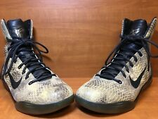"d74061d1f03f Nike Kobe Bryant 9 IX High EXT QS ""Snakeskin"" Black Black 716616-"